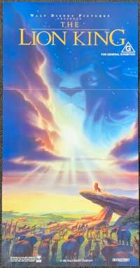 Lion King movie poster Disney Australian Daybill