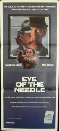 Eye Of The Needle 1981 Daybill movie poster Donald Sutherland Kate Nelligan Ian Bannen Bill Nighy