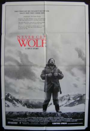 Never Cry Wolf Movie Poster Original One Sheet