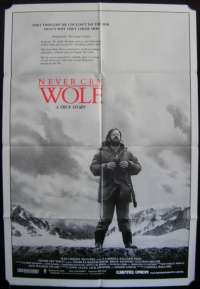 Never Cry Wolf One Sheet Australian Movie poster