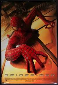 Spiderman Movie Poster Original One Sheet 2002 Rolled Tobey Maguire Sam Raimi