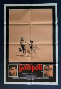 Gallipoli Poster Original Australian One Sheet 1981 Mel Gibson Mark Lee