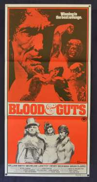 Blood And Guts Movie Poster Original Daybill 1978 William Smith Wrestling