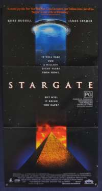 Stargate Movie Poster Original RARE Daybill 1994 Kurt Russell James Spader