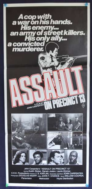 Assault On Precinct 13 1976 movie poster Australian Daybill John Carpenter