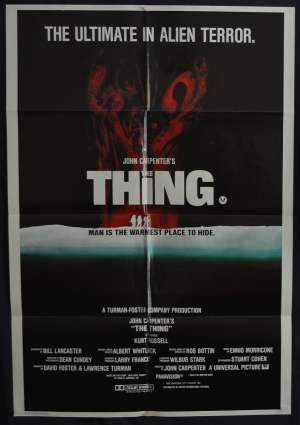 The Thing 1982 One Sheet movie poster Rare Kurt Russell John Carpenter