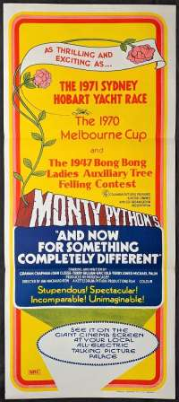 Monty Python's And Now For Something Completely Different Poster Original Daybill