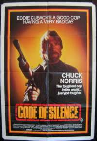 Code Of Silence 1985 One Sheet movie poster Chuck Norris