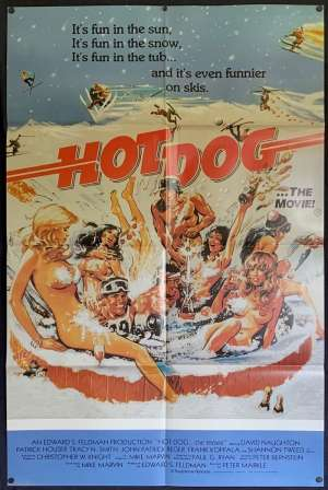 Hot Dog Poster Original One Sheet 1984 David Naughton Shannon Tweed