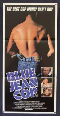 Blue Jean Cop Movie Poster Original Daybill 1988 aka Shakedown Peter Weller