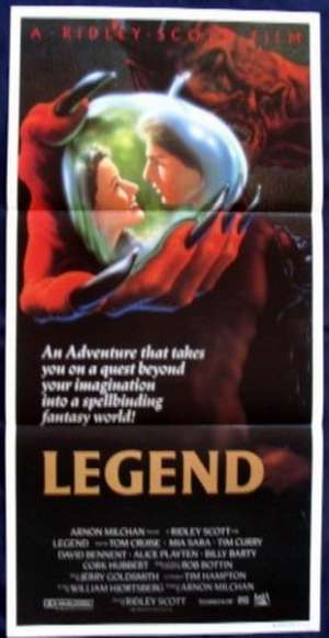 Legend Poster Original Daybill 1985 Tom Cruise Mia Sara Tim Curry