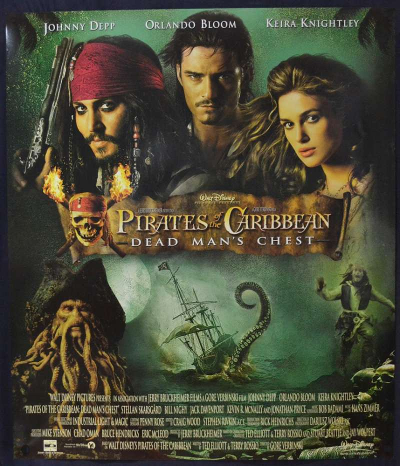 All About Movies Pirates Of The Caribbean Dead Man S Chest 2006 Dvd Poster Johnny Depp Orlando Bloom Keira Knightley