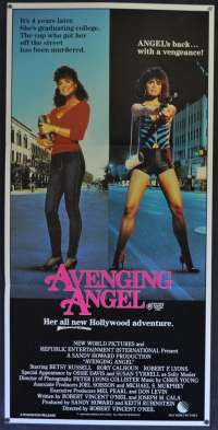 Avenging Angel Movie Poster Original Daybill 1985 Betsy Russell