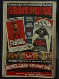 Grindhouse Movie Poster Original One Sheet ROLLED 2007 Planet Terror Death Proof