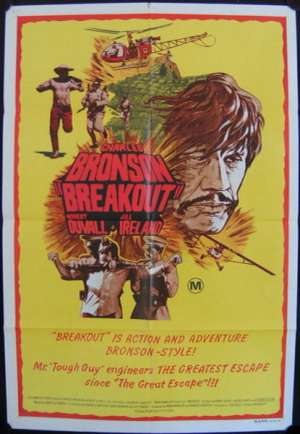 Breakout Poster Original One Sheet 1975 Charles Bronson Jill Ireland