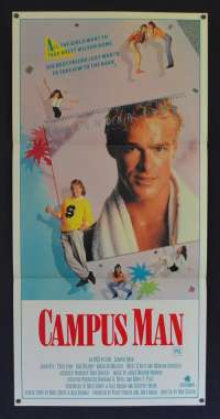 Campus Man 1987 Daybill movie poster John Dyre Kim Delaney