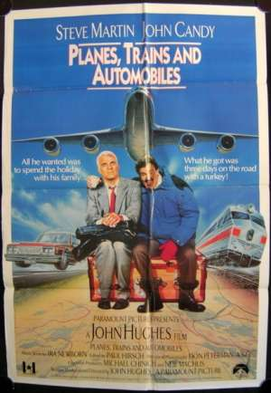 Planes Trains And Automobiles Poster Original UK One Sheet Steve Martin John Candy
