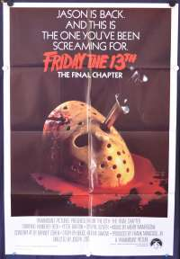 Friday The 13th The Final Chapter 1984 One Sheet movie poster Kimberly Beck