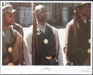 "Glory Lobby Card USA 11""x14"" Original 1989 Denzel Washington USA Civil War"