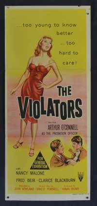 The Violators 1957 movie poster Daybill  Arthur O'Connell Nancy Malone