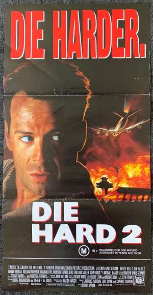 Die Hard 2 Die Harder Poster Original Daybill 1990 Bruce Willis Bonnie Bedelia