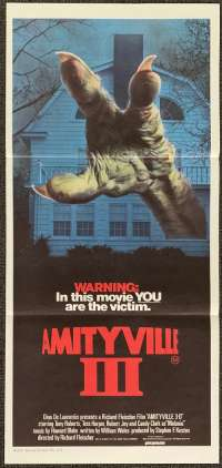 Amityville III 3-D Aka Amityville III The Demon Movie Poster Original Daybill 1983