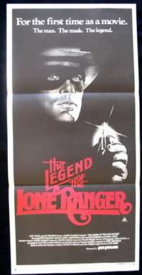The Legend Of The Lone Ranger 1981 Daybill movie poster Western