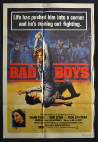 Bad Boys 1983 One Sheet movie poster Gangs Sean Penn Ally Sheedy