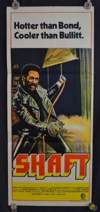 Shaft 1971 Richard Roundtree Daybill Movie poster