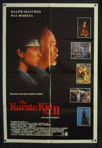 The Karate Kid Part 2 Poster Original One Sheet 1986 Ralph Macchio Pat Morita