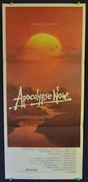 Apocalypse Now Martin Sheen Marlon Brando Daybill movie poster