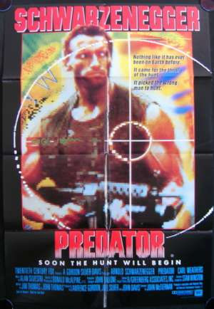 Predator 1987 Arnold Schwarzenegger Carl Weathers One Sheet movie poster