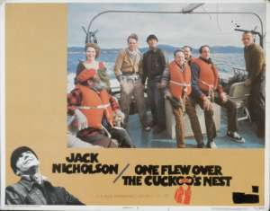 One Flew Over The Cuckoo's Nest Jack Nicholson Lobby Card No. 3