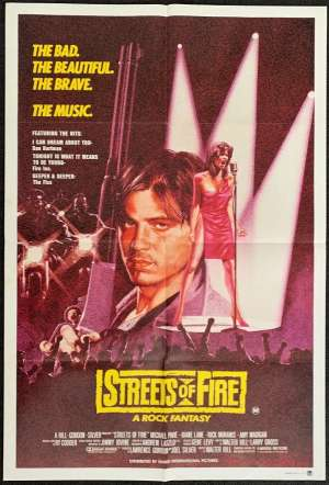 Streets Of Fire One Sheet Australian Movie poster