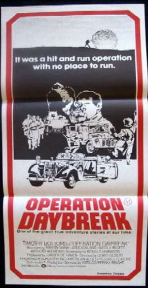 Operation Daybreak Poster Original Daybill 1975 Timothy Bottoms Martin Shaw