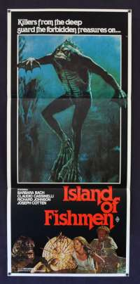 Island Of The Fishmen 1979 Daybill movie poster Barbara Bach Joseph Cotten