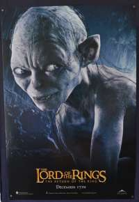 Lord Of The Rings Return Of The King One Sheet movie poster USA rolled Teaser Gollum art