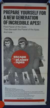 Escape From The Planet Of The Apes Roddy McDowall Daybill Movie poster