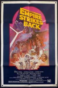 The Empire Strikes Back Poster Original USA One Sheet 1982 RI Star Wars