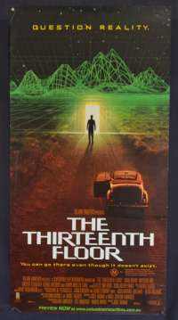 The Thirteenth Floor Movie Poster Original Daybill Rolled 1999
