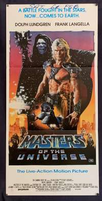 Masters Of The Universe 1987 Daybill movie poster Dolph Lundgren Courteney Cox