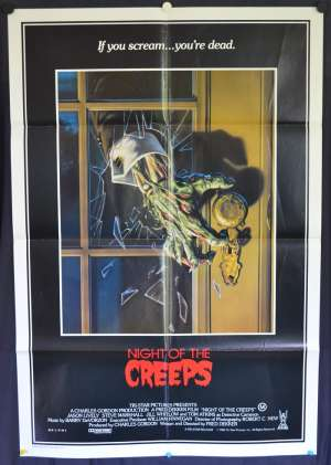 Night Of The Creeps 1986 movie poster One Sheet Jason Lively Zombies