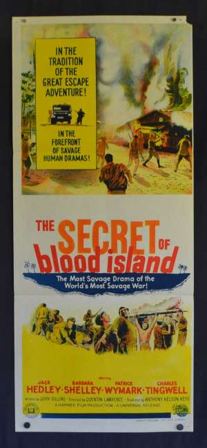 The Secret Of Blood Island Poster Original Daybill 1964 Jack Hedley Barbara Shelley