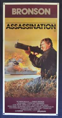 Assassination Movie Poster Original Daybill 1987 Charles Bronson Jill Ireland