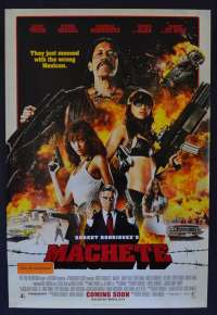 Machete 2010 One Sheet Advance movie poster Robert De Niro Jessica Alba Robert Rodriguez