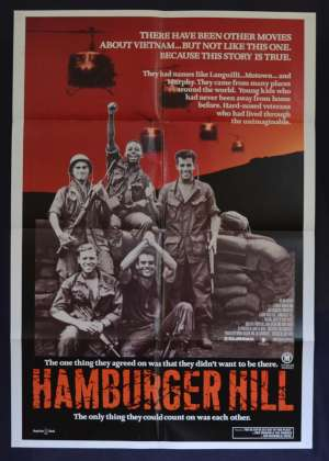 Hamburger Hill 1987 One Sheet Poster Vietnam War Dylan McDermott Don Cheadle
