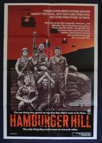 Hamburger Hill 1987 One Sheet movie poster Vietnam War Dylan McDermott Don Cheadle