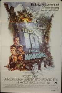 Force 10 From Navarone movie poster Harrison Ford Robert Shaw One Sheet