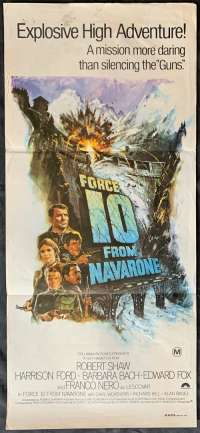 Force 10 From Navarone Daybill Poster Original Harrison Ford Robert Shaw