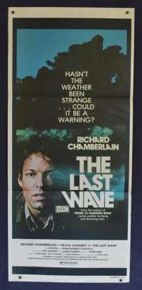 The Last Wave 1977 poster Richard Chamberlain Peter Weir Skull art Daybill